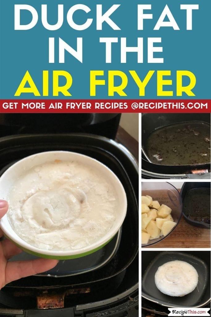 duck fat in air fryer