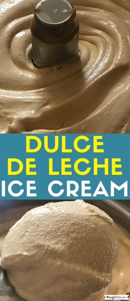 dulce de leche ice cream recipe