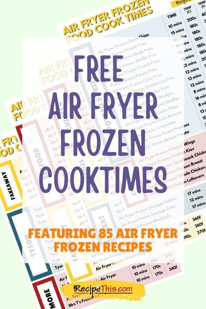 free air fryer frozen cook times