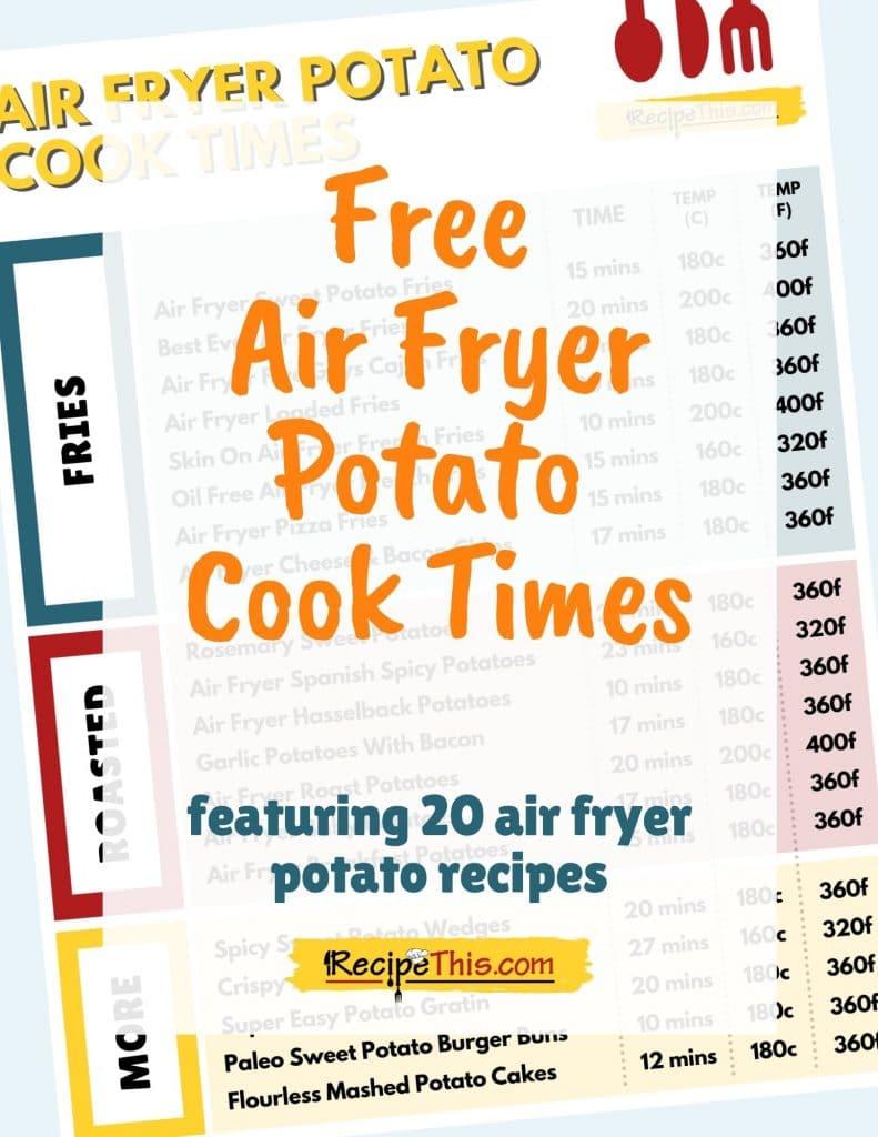 free air fryer potato cook times