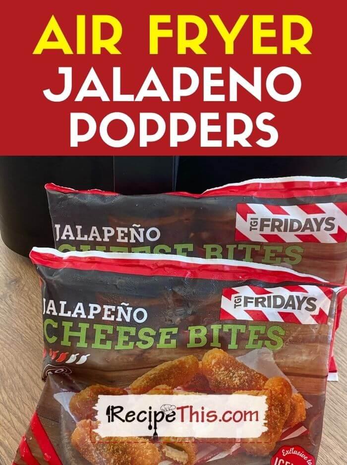 frozen jalapeno poppers in air fryer