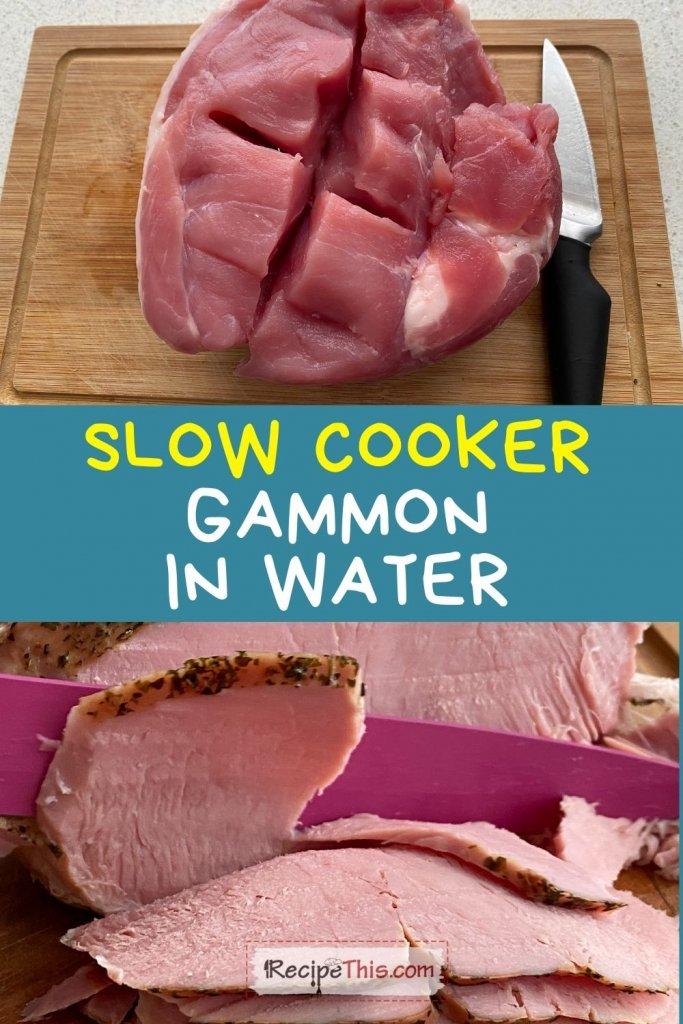 gammon in water slow cooker