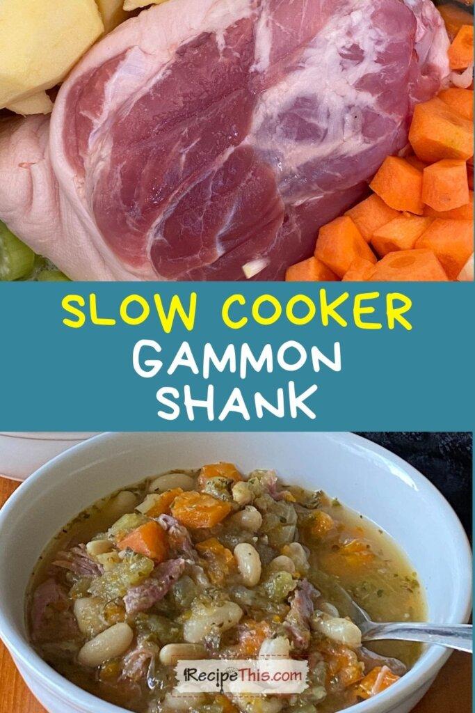 gammon shank slow cooker