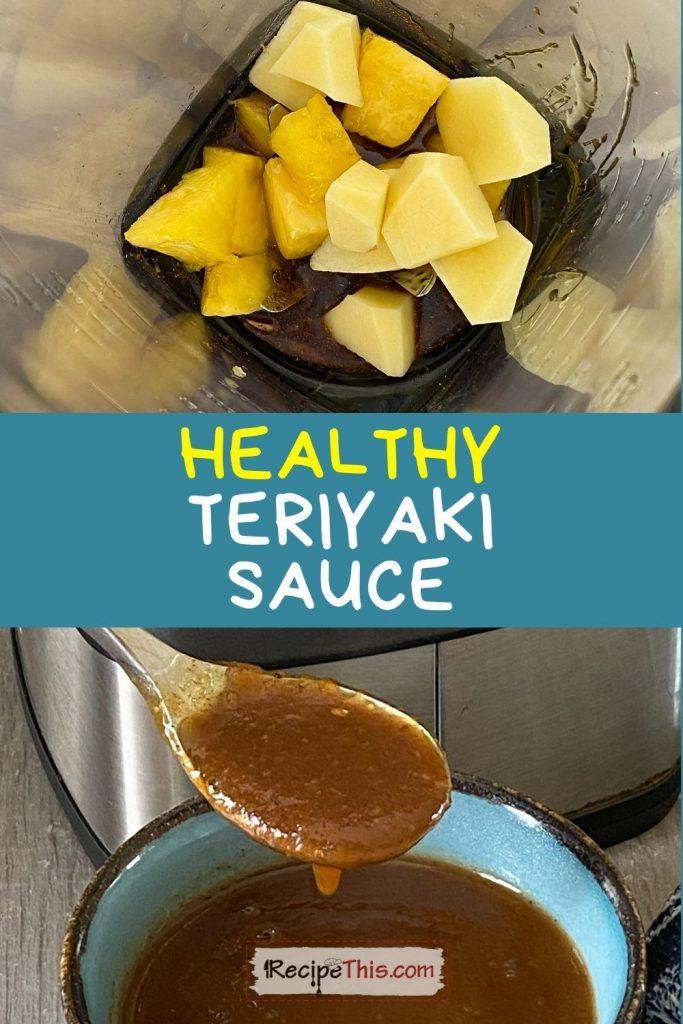 healthy teriyaki sauce recipe