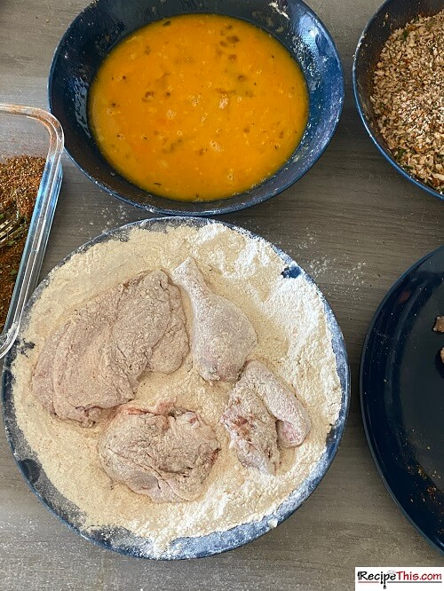 homemade kfc chicken with flour