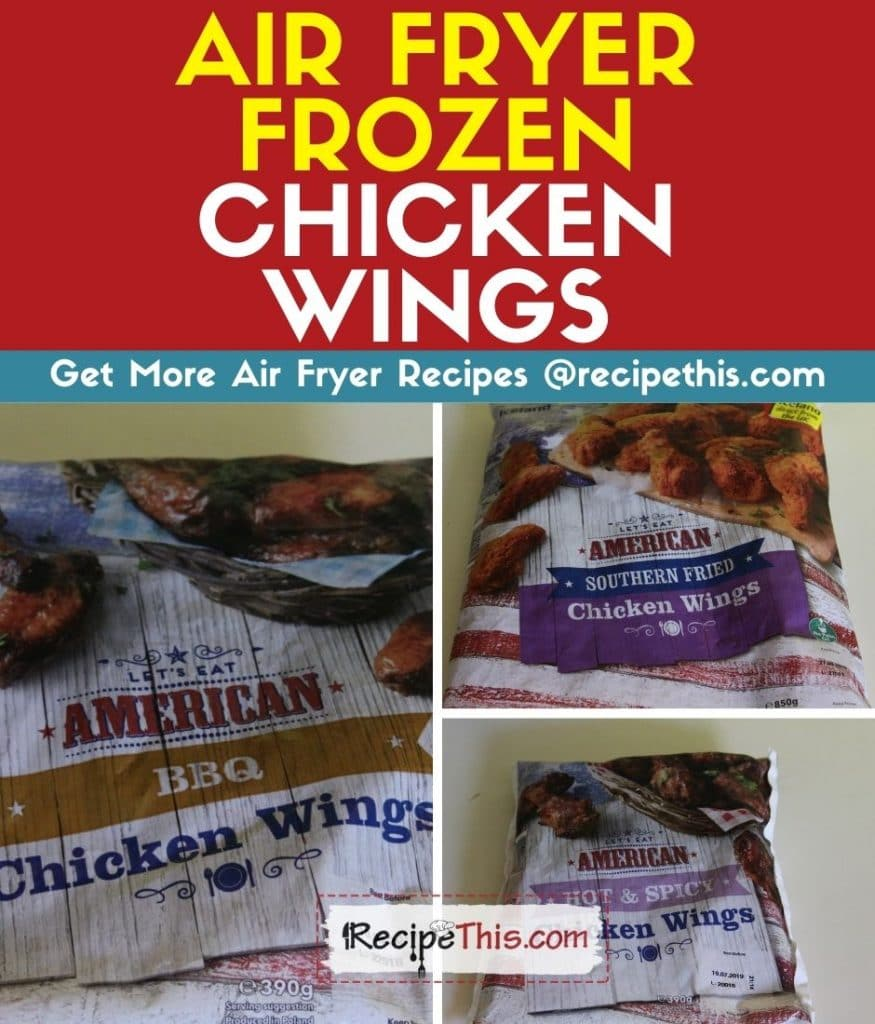 how to air fry frozen chicken wings recipe