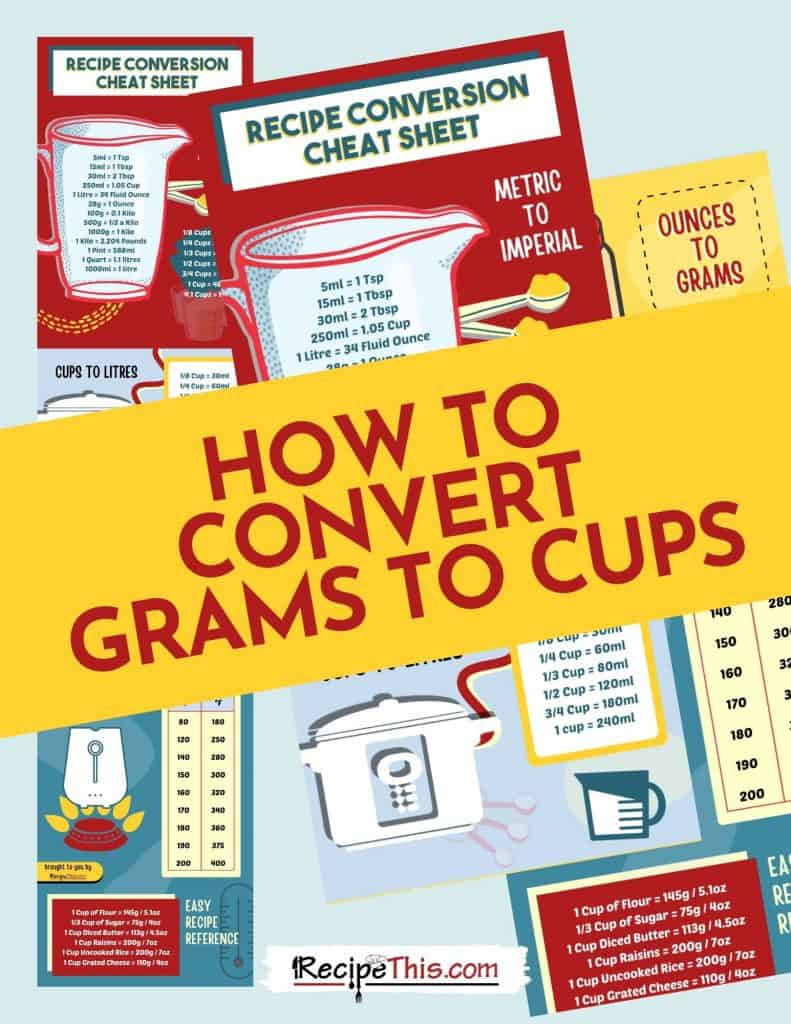 how to convert grams to cups