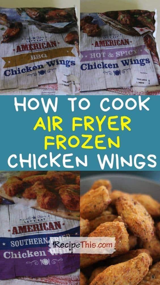 how to cook air fryer frozen chicken wings