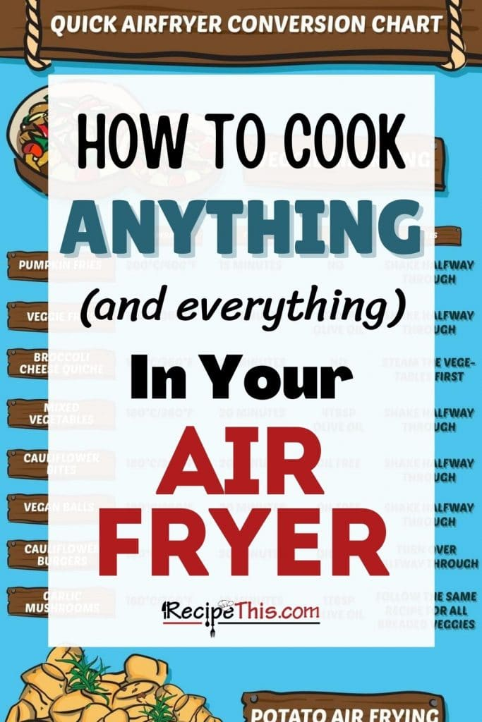 how to cook anything and everything in your air fryer
