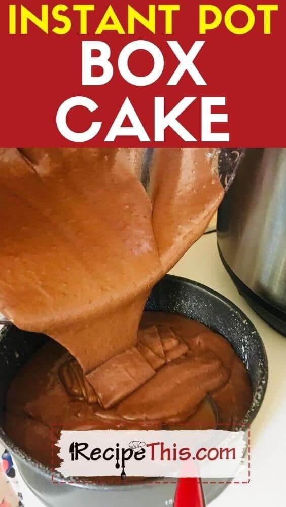 instant pot box cake pressure cooker recipe