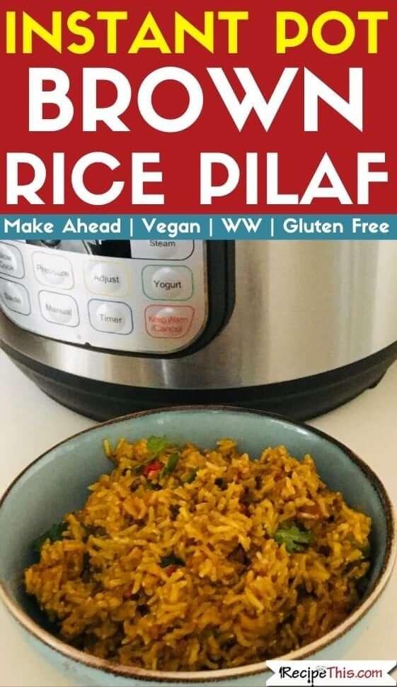 instant pot brown rice pilaf pressure cooker recipe