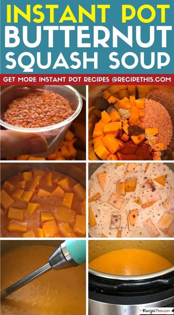 instant pot butternut squash soup step by step