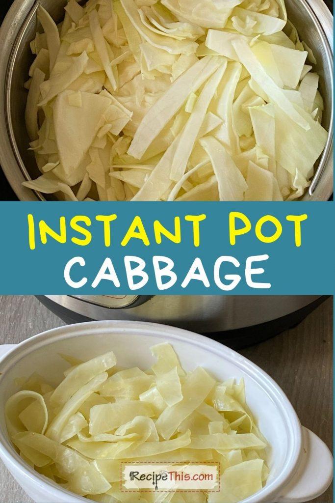 instant pot cabbage recipe