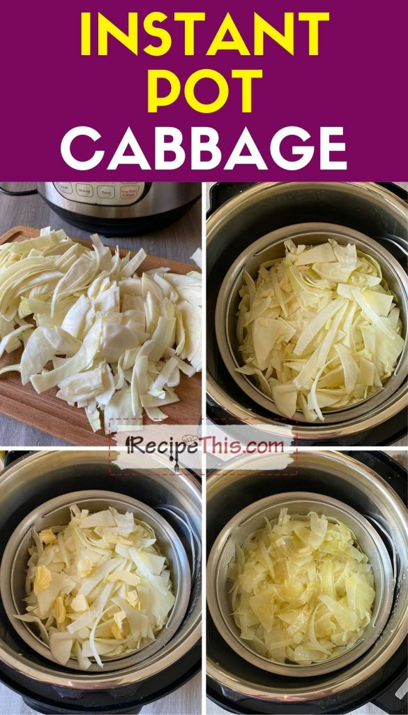 instant pot cabbage step by step