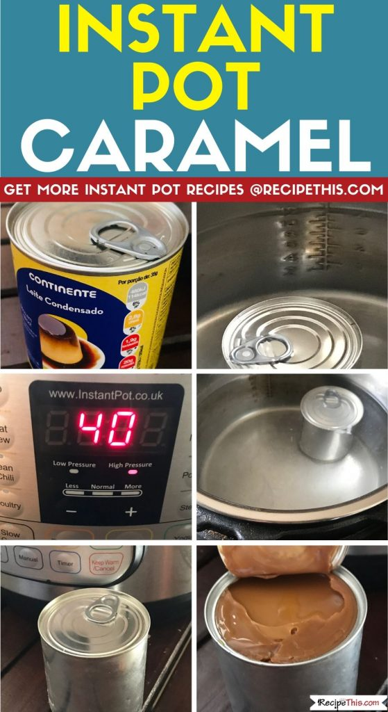 instant pot caramel step by step