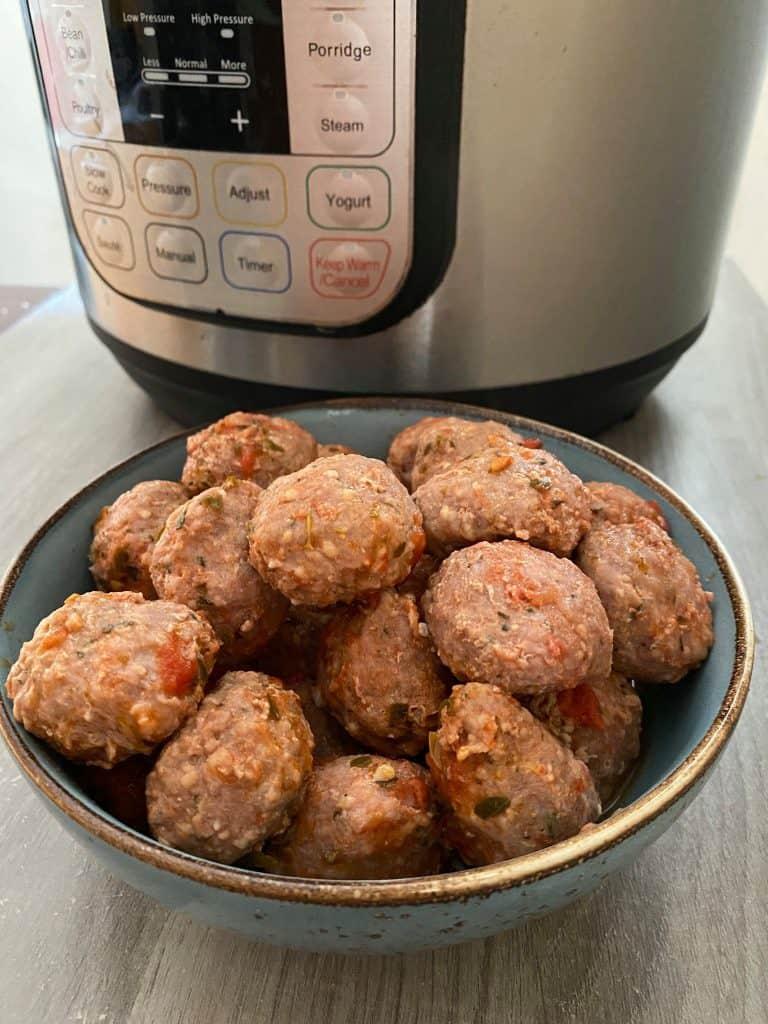instant pot frozen meatballs plain