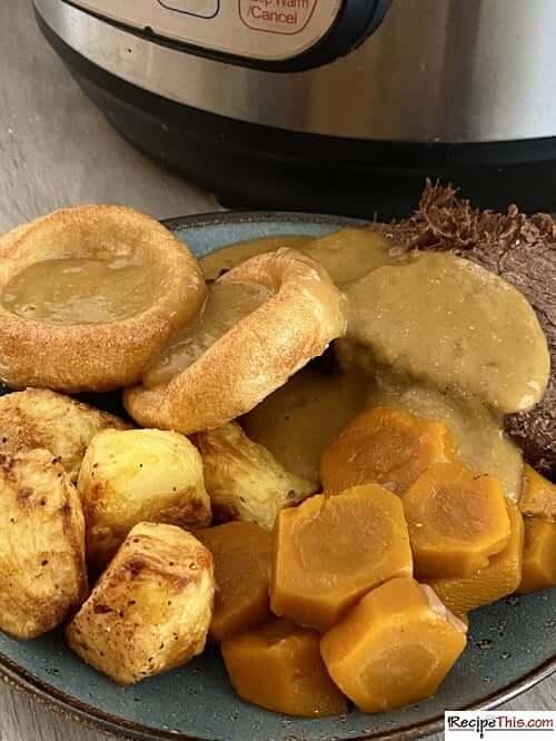 instant pot frozen roast beef and gravy