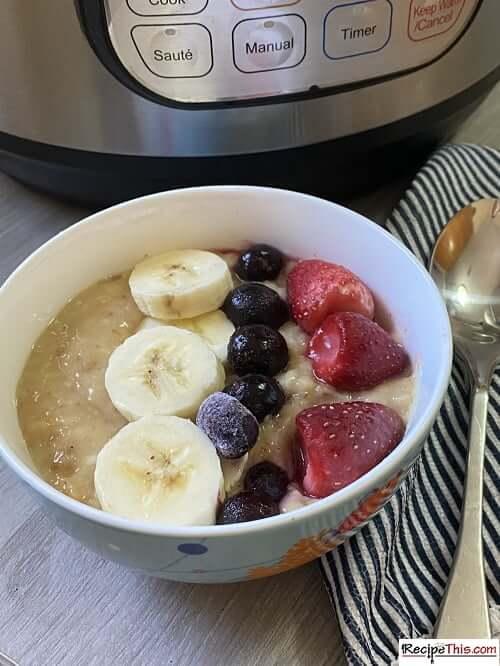 instant pot porridge setting