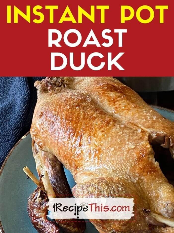 instant pot roast duck at recipethis.com