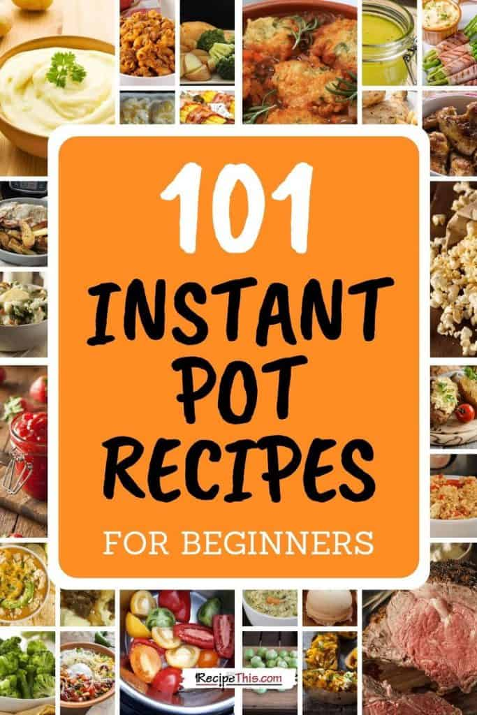 instant pot round up graphic for 101