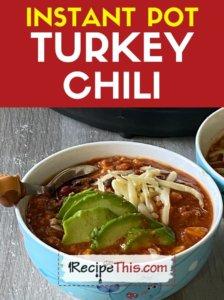 instant pot turkey chilli recipe