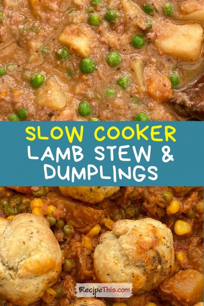 lamb stew and dumplings slow cooker