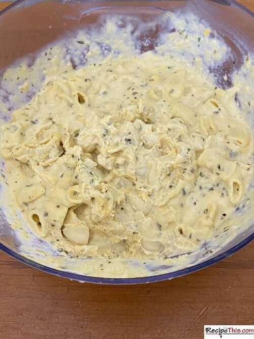 leftover macaroni cheese bowl
