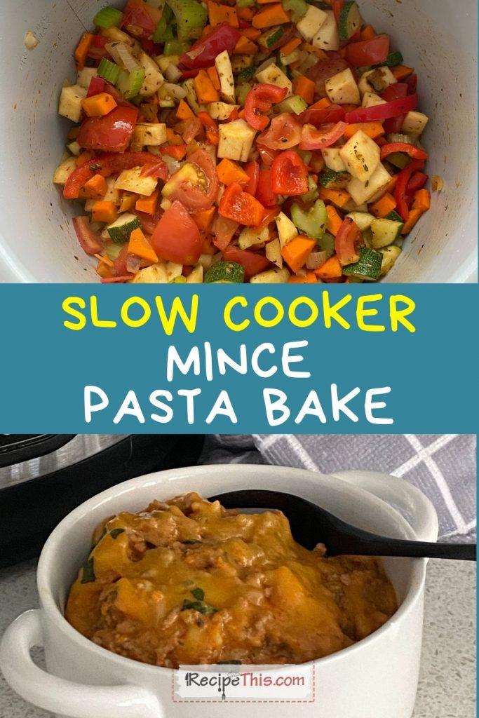 mince pasta bake slow cooker