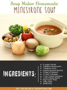"""minestrone soup maker recipe"""
