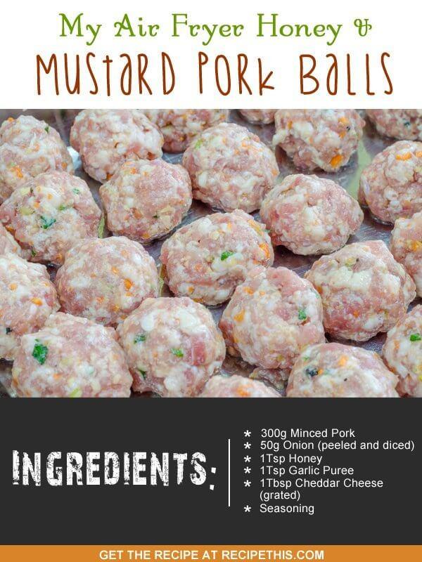 mustard pork balls