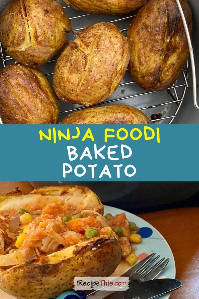 ninja foodi baked potatoes recipe