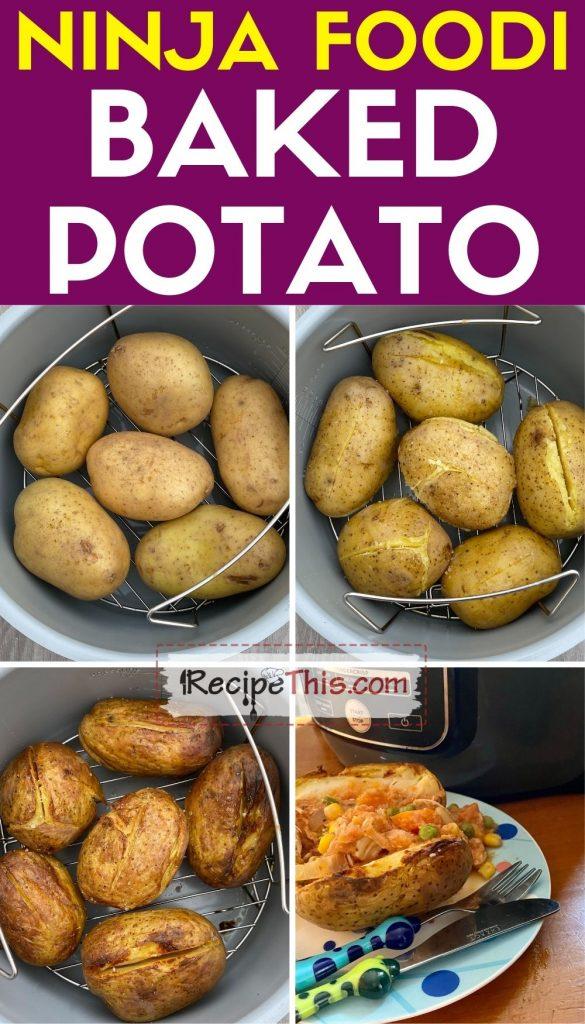 ninja foodi baked potatoes step by step