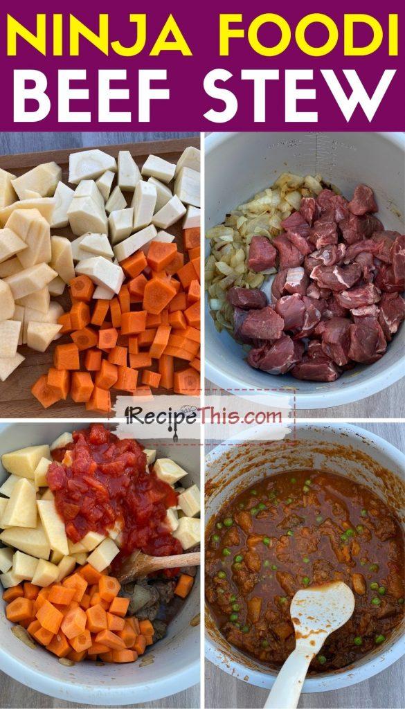 ninja foodi beef stew step by step