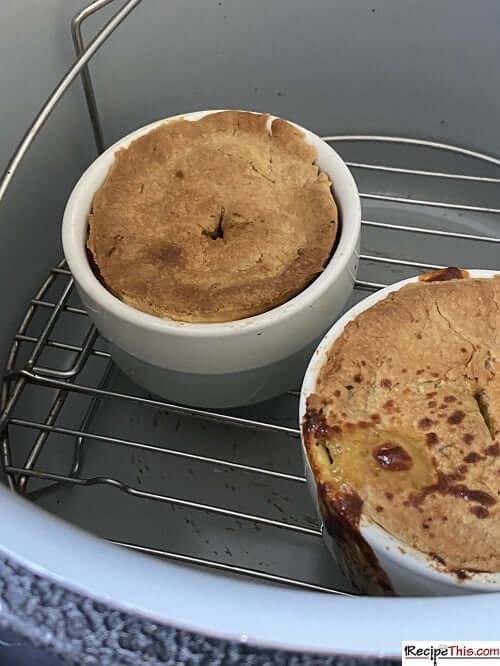 ninja foodi chicken pot pie with pie crust