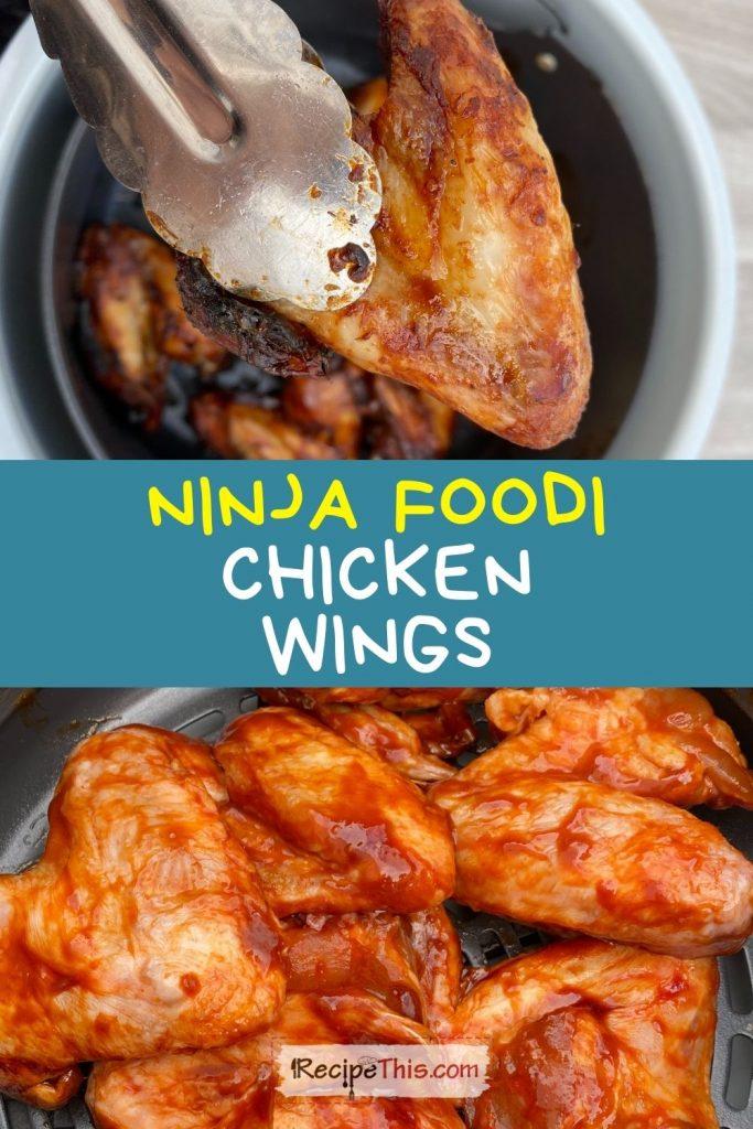 ninja foodi chicken wings recipe