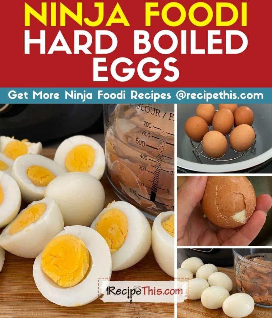 ninja foodi hard boiled eggs step by step