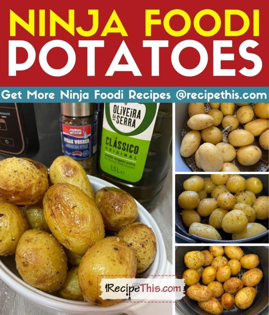 ninja foodi potatoes step by step