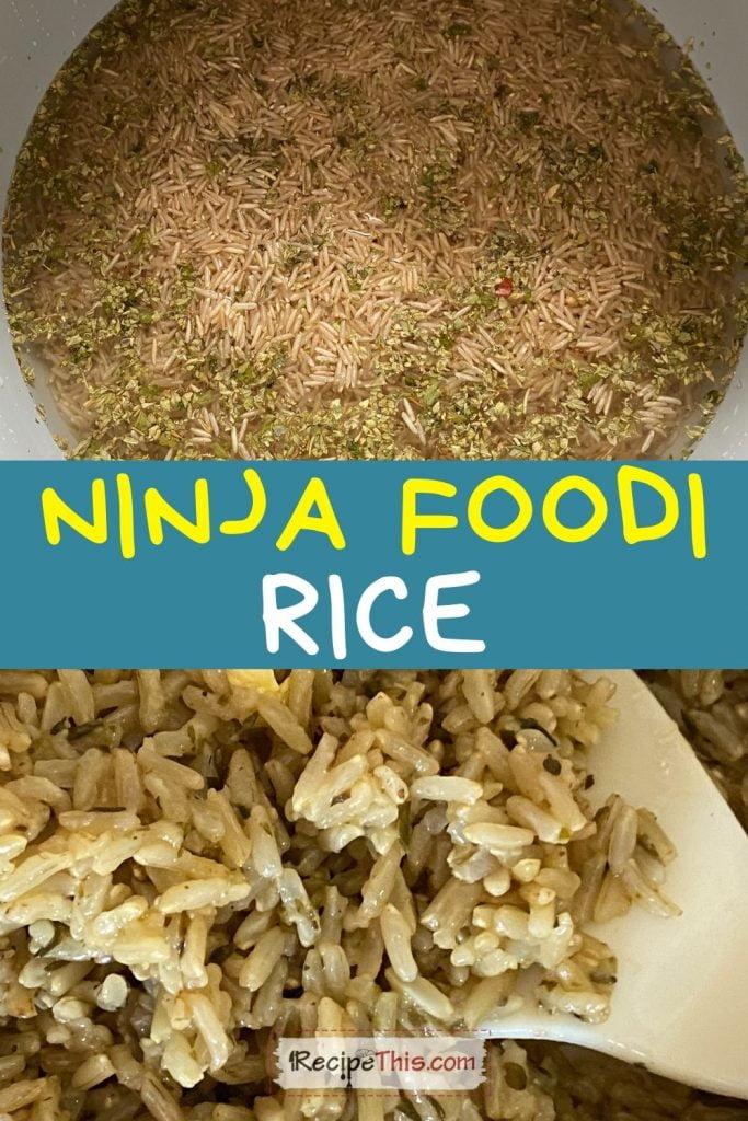 ninja foodi rice recipe
