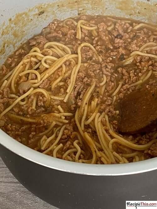 ninja foodi spaghetti soup