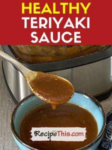 ninja healthy teriyaki sauce