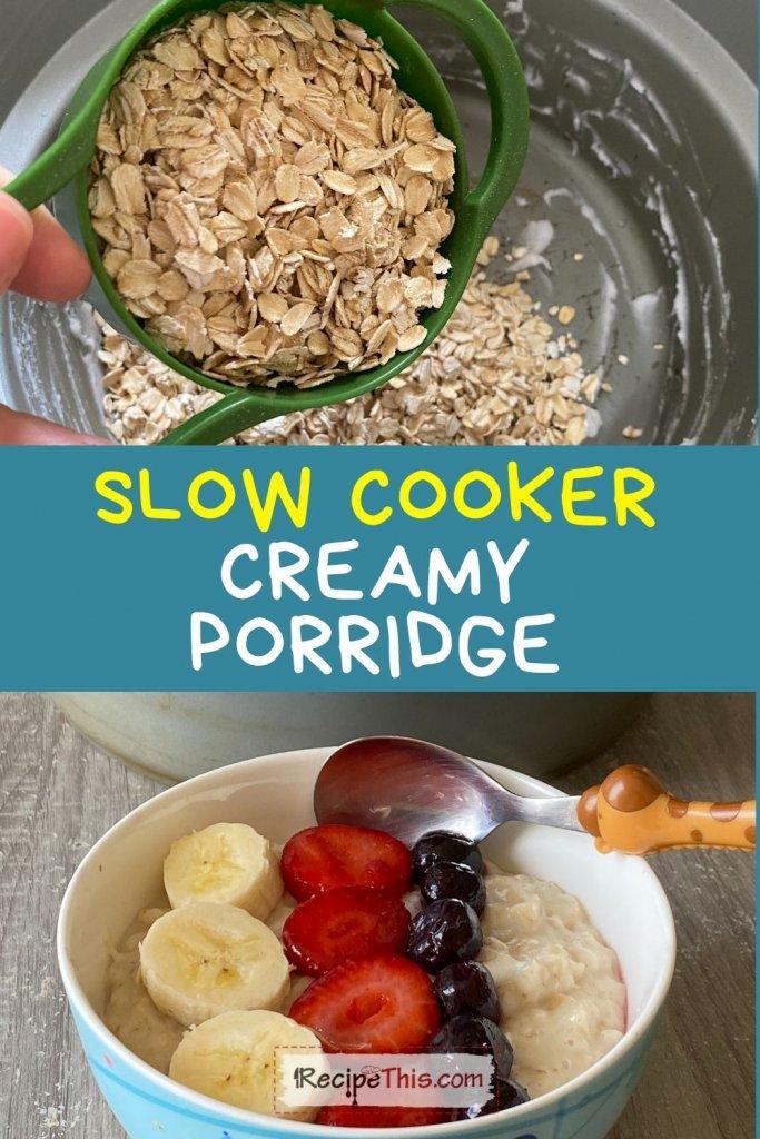 porridge slow cooker