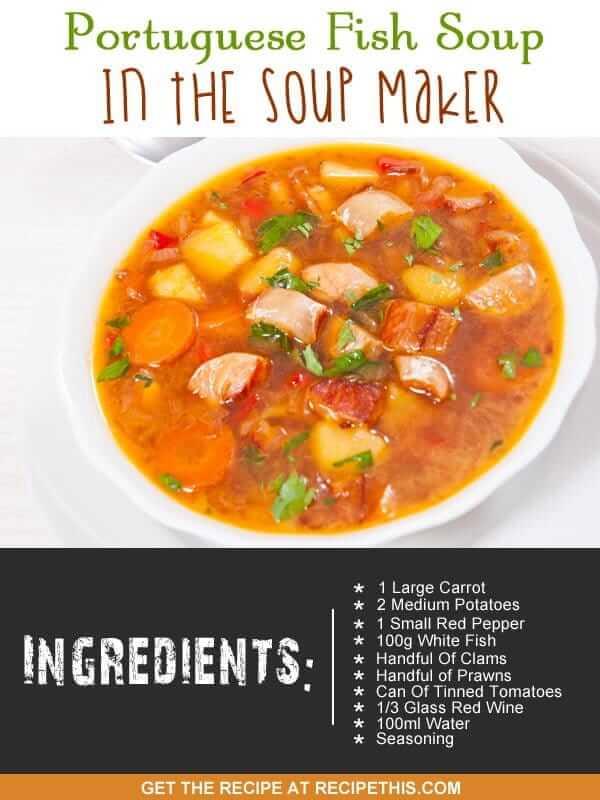 """soup maker fish stew"""