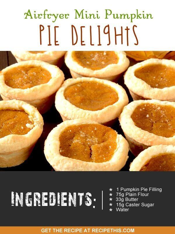 """mini pumpkin pie recipe ingredients"""