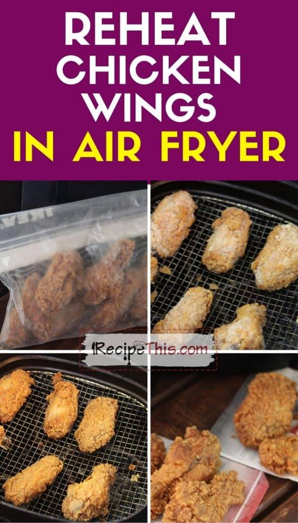 reheat chicken wings in air fryer step by step