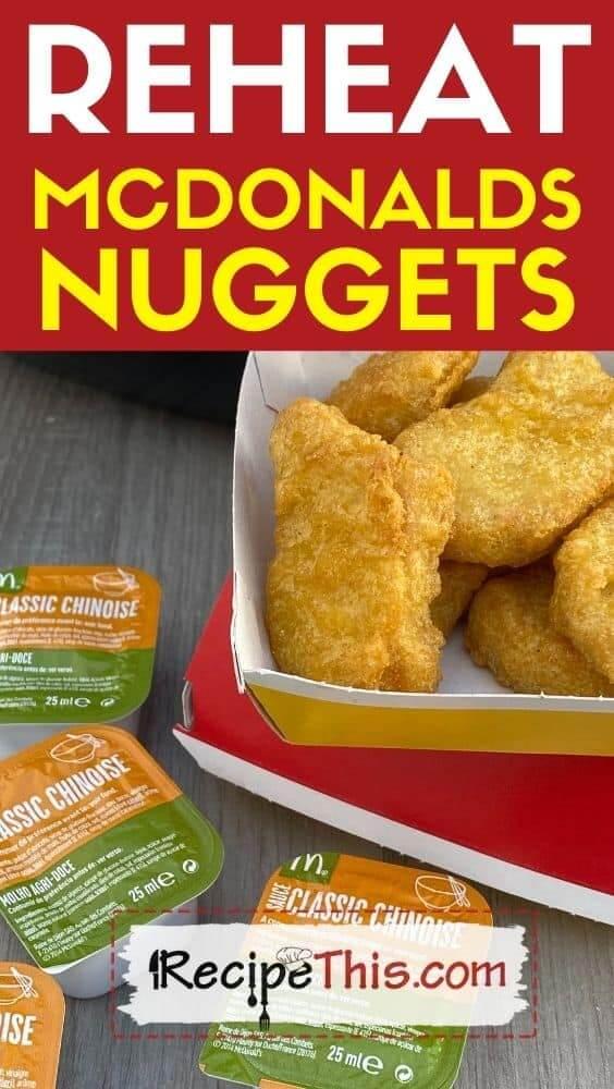 reheat mcdonalds nuggets at recipethis.com