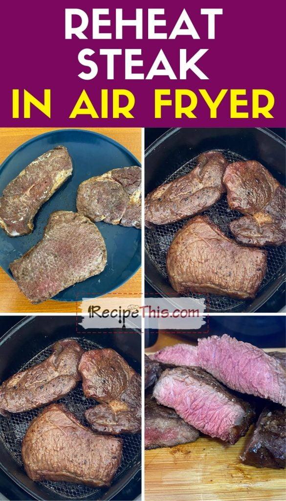 reheat steak in air fryer step by step