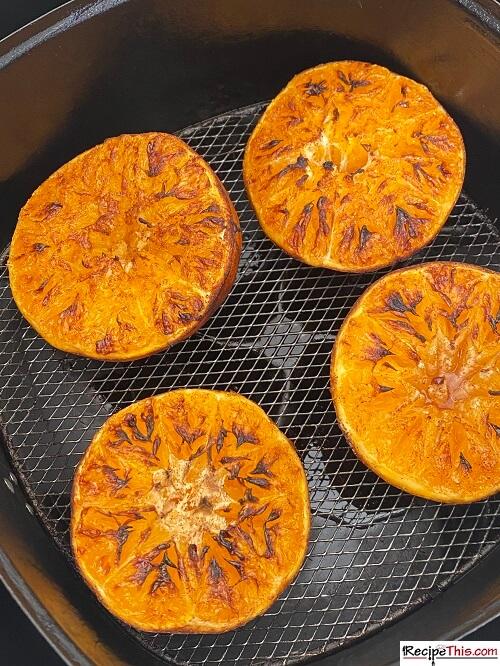roasted oranges in the air fryer