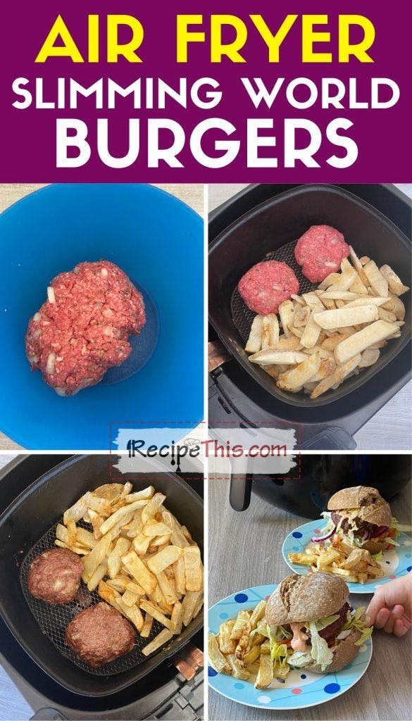 slimming world burgers in air fryer