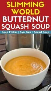 slimming world butternut squash soup recipe