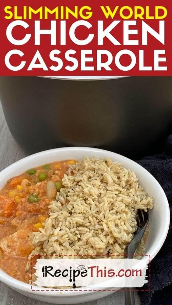slimming world chicken casserole recipe